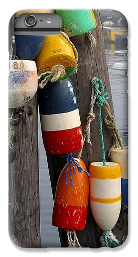 Lobster IPhone 6 Plus Case featuring the photograph Lobster Buoy At Water Taxi Pier by Faith Harron Boudreau