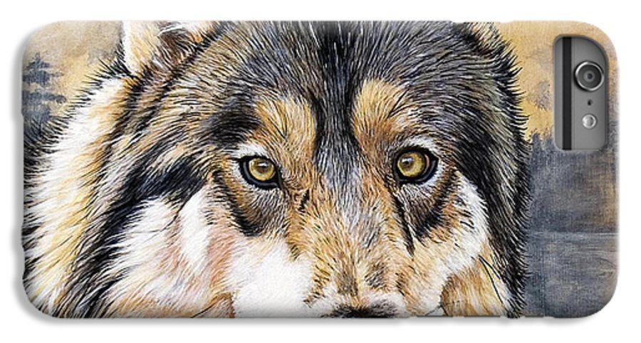 Acrylics IPhone 6 Plus Case featuring the painting Loki by Sandi Baker