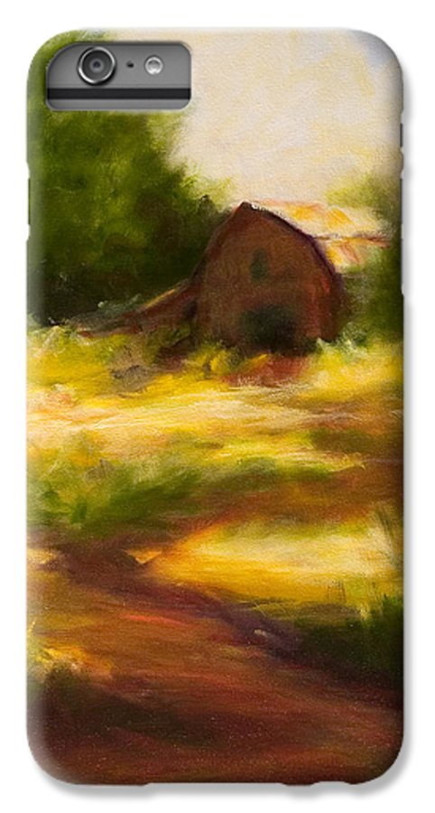 Landscape IPhone 6 Plus Case featuring the painting Long Road Home by Shannon Grissom