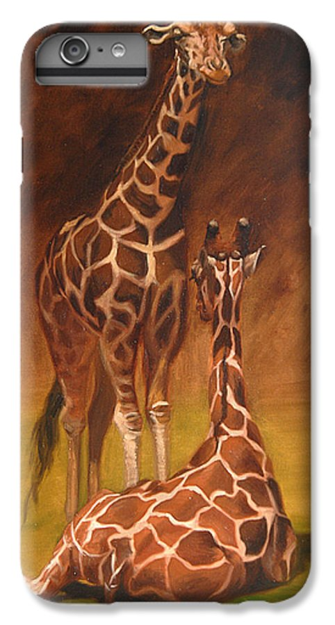 Oil IPhone 6 Plus Case featuring the painting Looking Out For Each Other by Greg Neal
