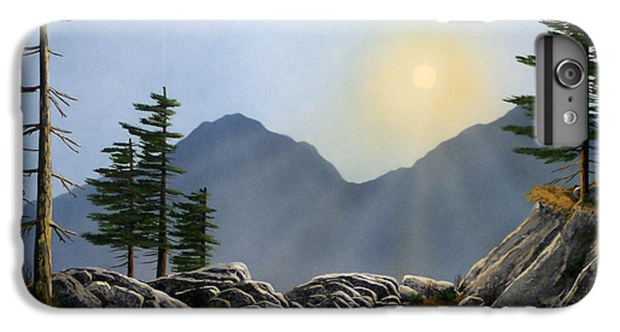 Landscape IPhone 6 Plus Case featuring the painting Lookout Rock by Frank Wilson