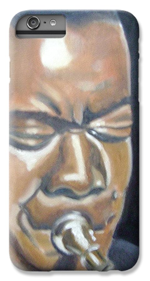 Louis Armstrong IPhone 6 Plus Case featuring the painting Louis Armstrong by Toni Berry