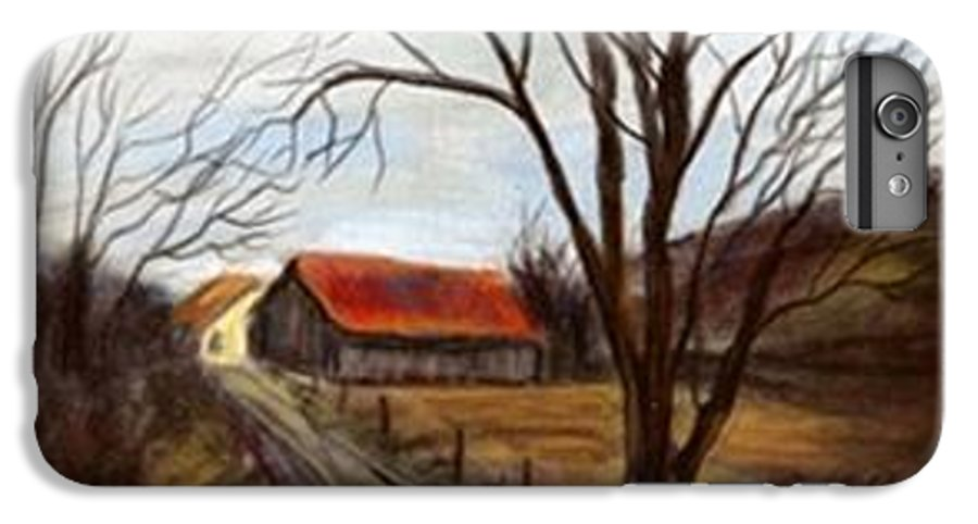 Barn IPhone 6 Plus Case featuring the painting Louisa Kentucky Barn by Gail Kirtz