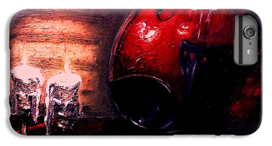 Love IPhone 6 Plus Case featuring the painting Love For Music by Patricia Awapara