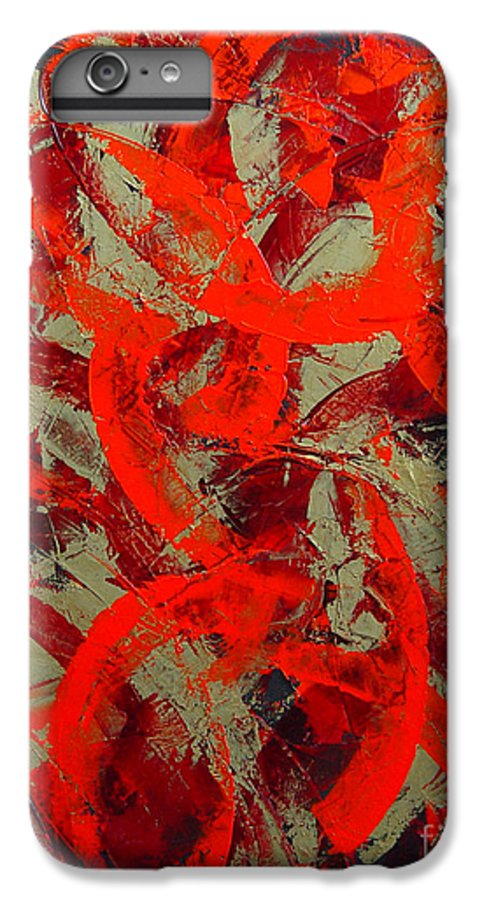 Abstract IPhone 6 Plus Case featuring the painting Love Trails by Dean Triolo