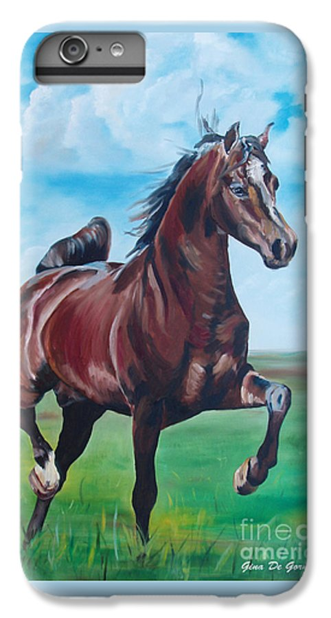 Horse IPhone 6 Plus Case featuring the painting Lovely by Gina De Gorna
