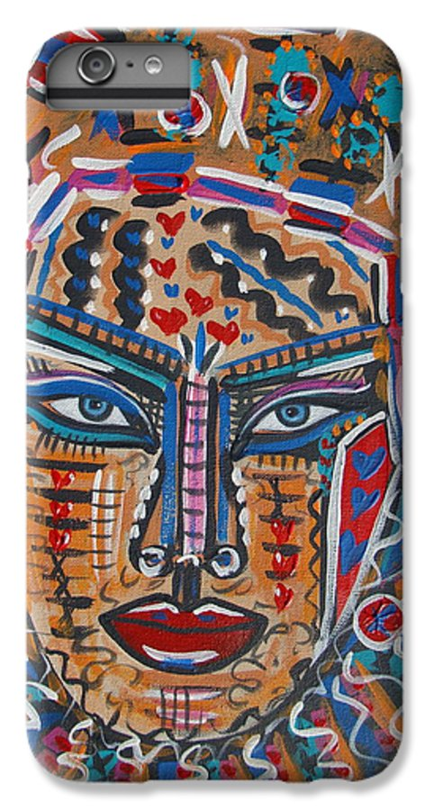 Abstract IPhone 6 Plus Case featuring the painting Loviola by Natalie Holland