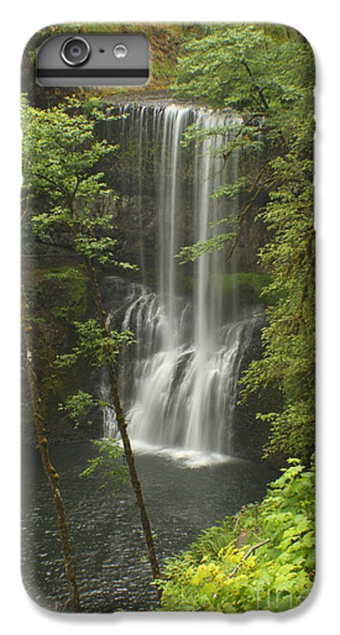 Silver Falls IPhone 6 Plus Case featuring the photograph Lower South Falls by Idaho Scenic Images Linda Lantzy