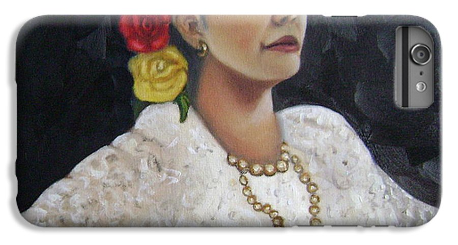 IPhone 6 Plus Case featuring the painting Lucinda by Toni Berry