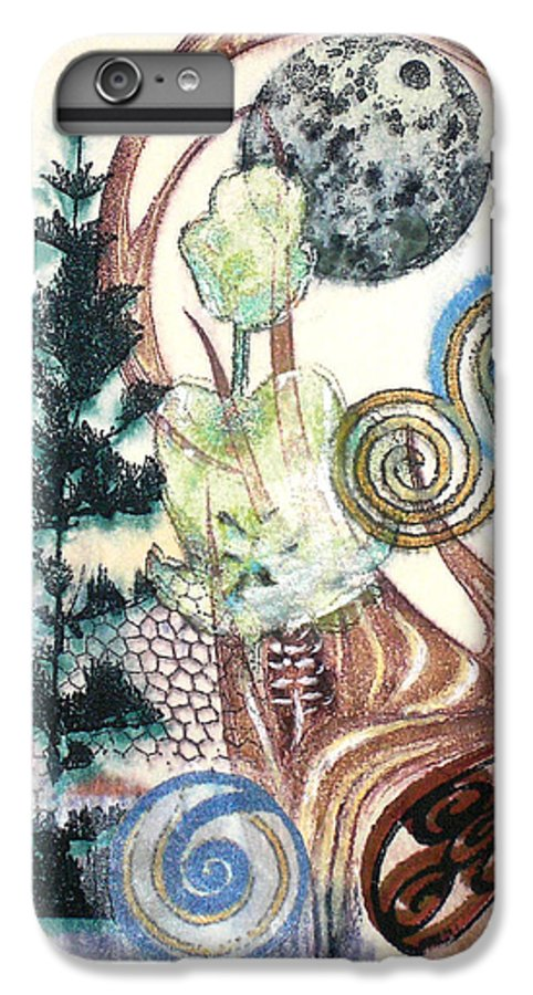 Abstract IPhone 6 Plus Case featuring the painting Luna 1 by Valerie Meotti