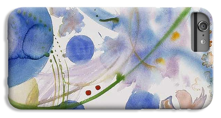 Abstract IPhone 6 Plus Case featuring the painting Lunar Galactic Convergence by Eileen Hale
