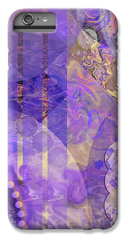 Lunar Impressions 2 IPhone 6 Plus Case featuring the digital art Lunar Impressions 2 by John Beck