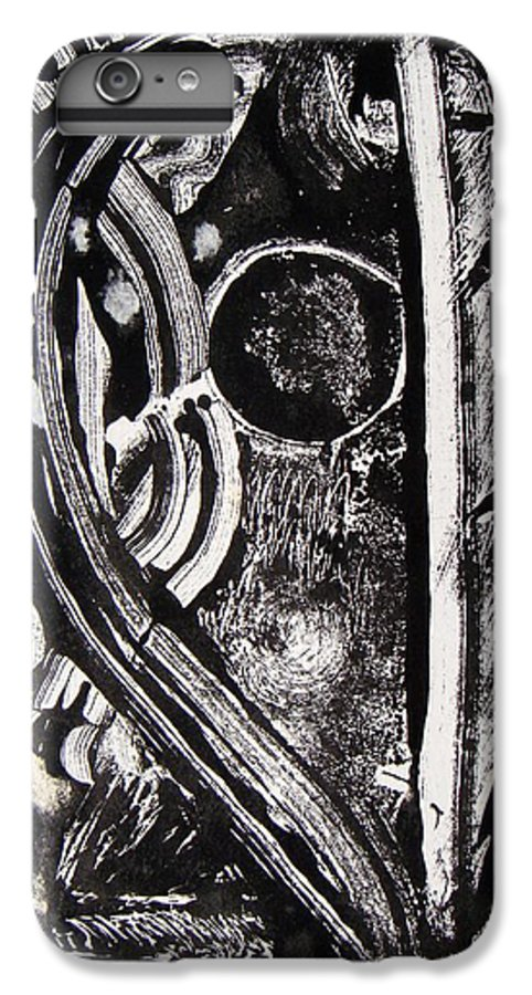 Abstract IPhone 6 Plus Case featuring the painting Lune Noire by Muriel Dolemieux