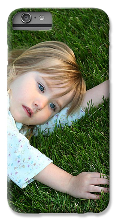 Girl IPhone 6 Plus Case featuring the photograph Lying In The Grass by Margie Wildblood