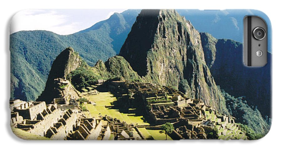 Peru IPhone 6 Plus Case featuring the photograph Machu Picchu by Kathy Schumann