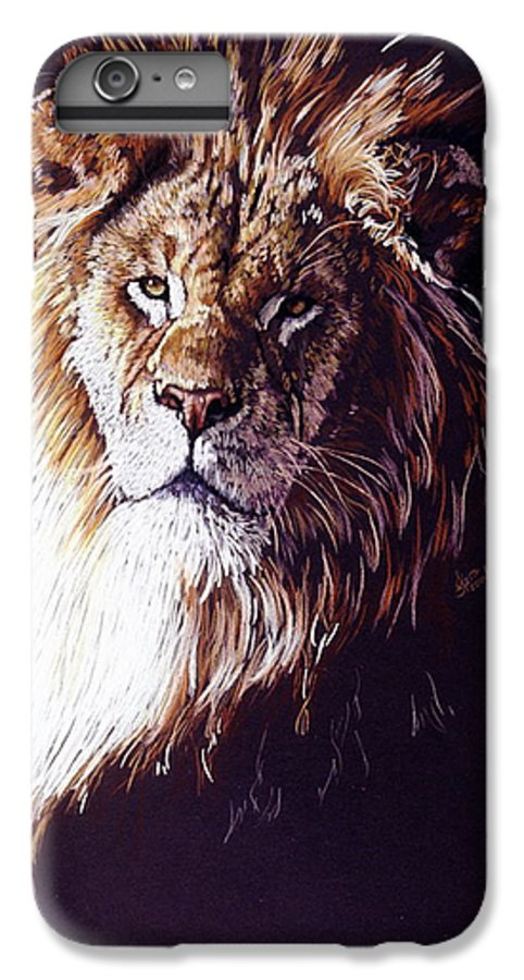 Lion IPhone 6 Plus Case featuring the drawing Maestro by Barbara Keith