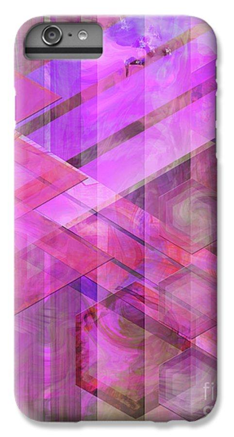 Magenta Haze IPhone 6 Plus Case featuring the digital art Magenta Haze by John Beck