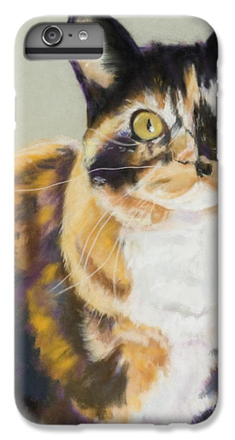 Calico IPhone 6 Plus Case featuring the painting Maggie Mae by Pat Saunders-White