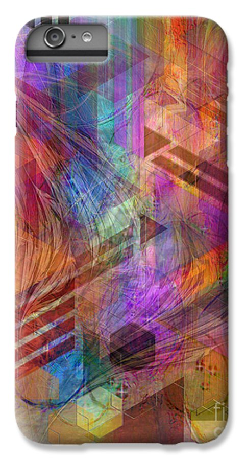 Magnetic Abstraction IPhone 6 Plus Case featuring the digital art Magnetic Abstraction by John Beck