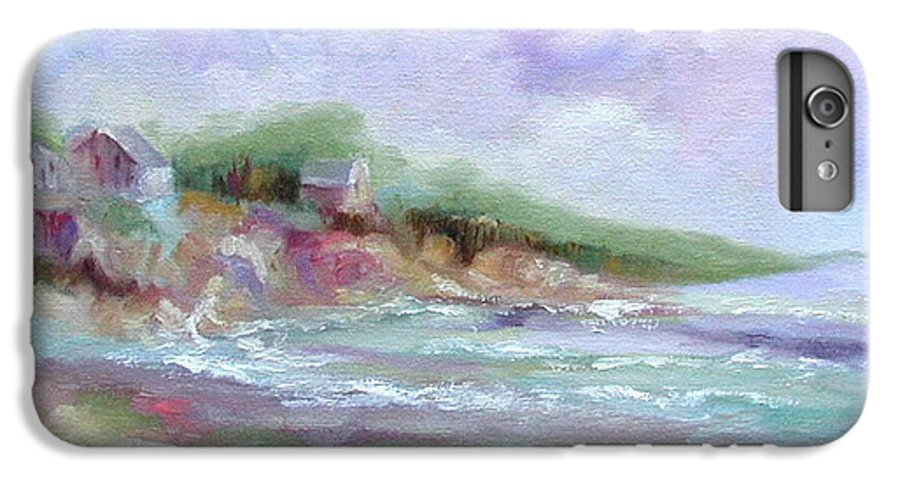 Maine Coastline IPhone 6 Plus Case featuring the painting Maine Coastline by Ginger Concepcion