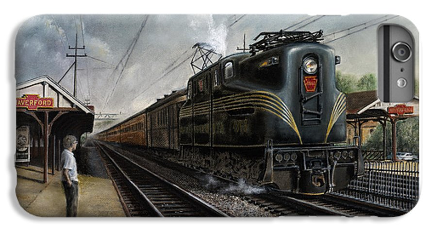 Trains IPhone 6 Plus Case featuring the painting Mainline Memories by David Mittner