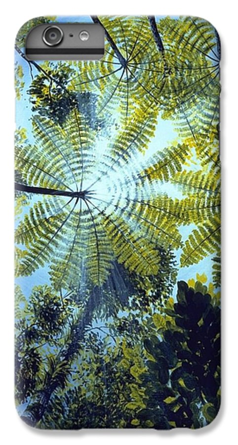 Chris Cox IPhone 6 Plus Case featuring the painting Majestic Treeferns by Christopher Cox