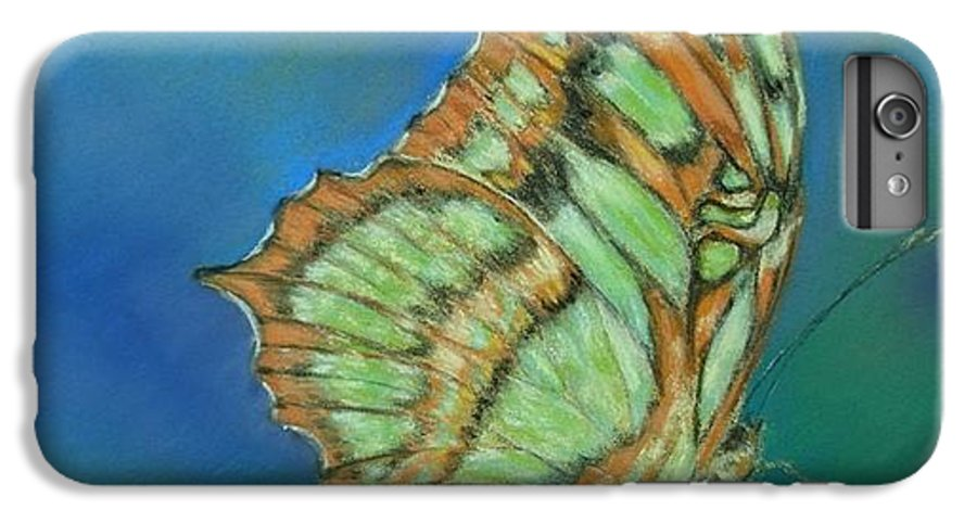 Butterfly IPhone 6 Plus Case featuring the painting Malachite by Ceci Watson