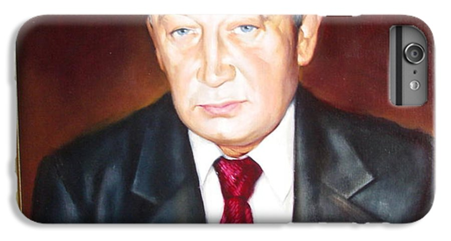 Art IPhone 6 Plus Case featuring the painting Man 1 by Sergey Ignatenko