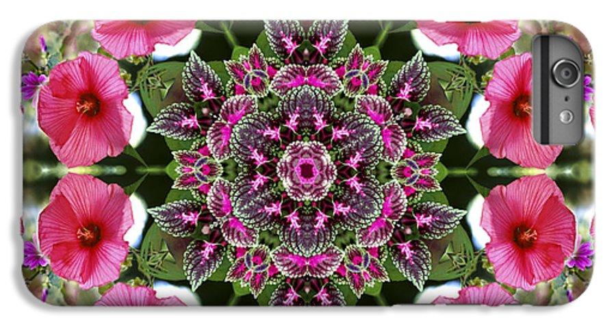 Mandala IPhone 6 Plus Case featuring the digital art Mandala Pink Patron by Nancy Griswold