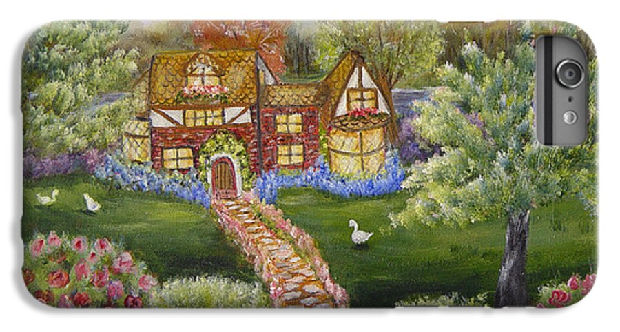 Landscape IPhone 6 Plus Case featuring the painting Manor Of Yore by Quwatha Valentine