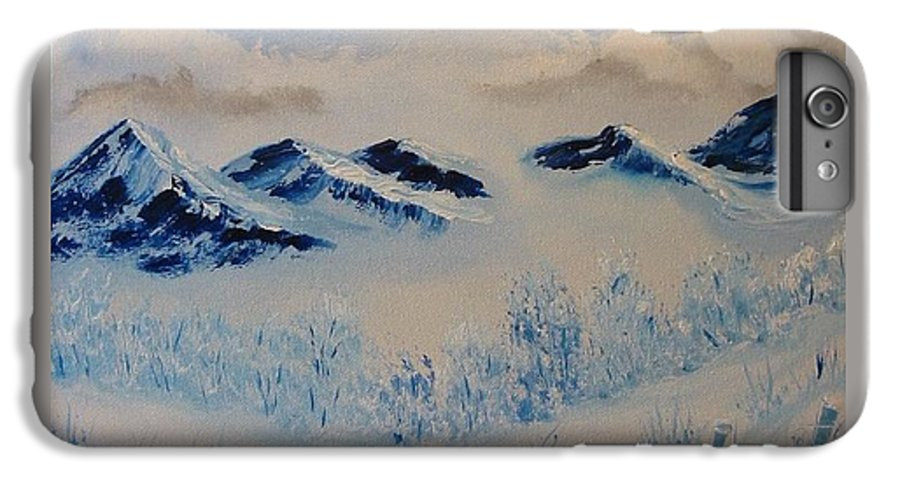 Blue IPhone 6 Plus Case featuring the painting Many Valleys by Laurie Kidd