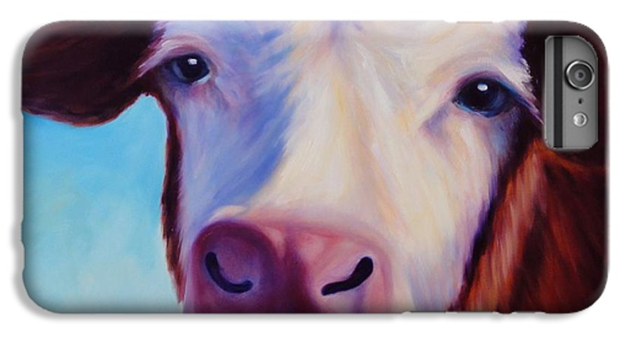 Cow IPhone 6 Plus Case featuring the painting Marie by Shannon Grissom