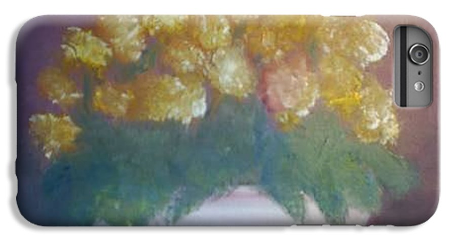 Marigolds IPhone 6 Plus Case featuring the painting Marigolds by Sheila Mashaw