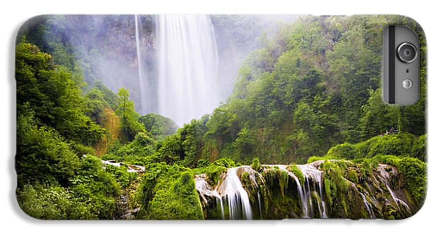Italy IPhone 6 Plus Case featuring the photograph Marmore Waterfalls Italy by Marilyn Hunt
