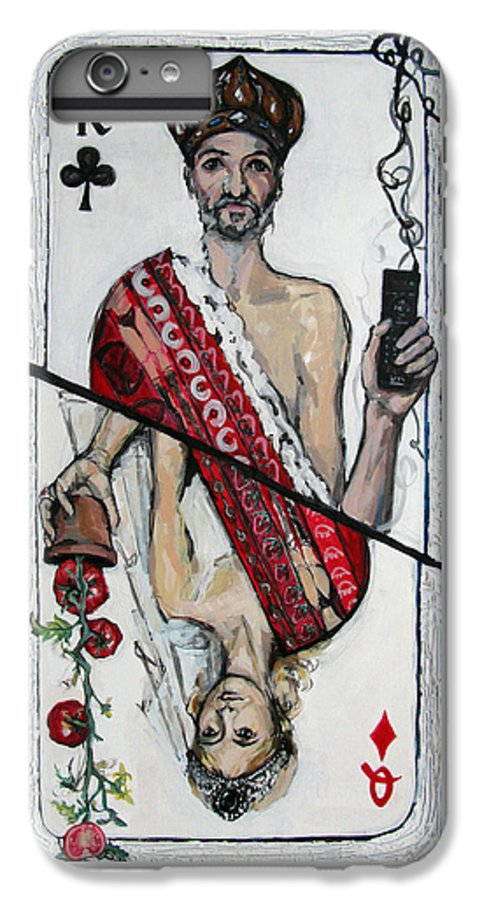 Marriage IPhone 6 Plus Case featuring the painting Marriage by Mima Stajkovic