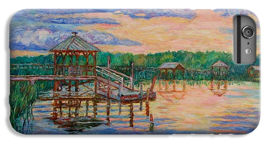 Landscape IPhone 6 Plus Case featuring the painting Marsh View At Pawleys Island by Kendall Kessler