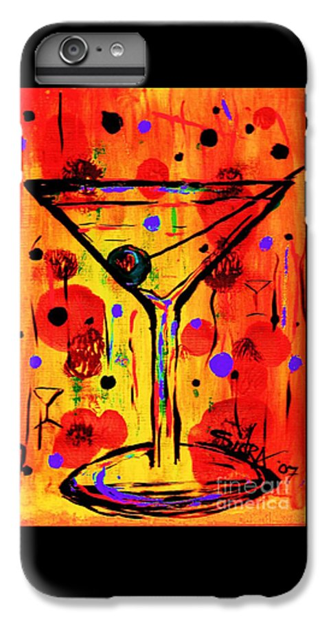 Martini IPhone 6 Plus Case featuring the painting Martini Twentyfive Of Sidzart Pop Art Collection by Sidra Myers