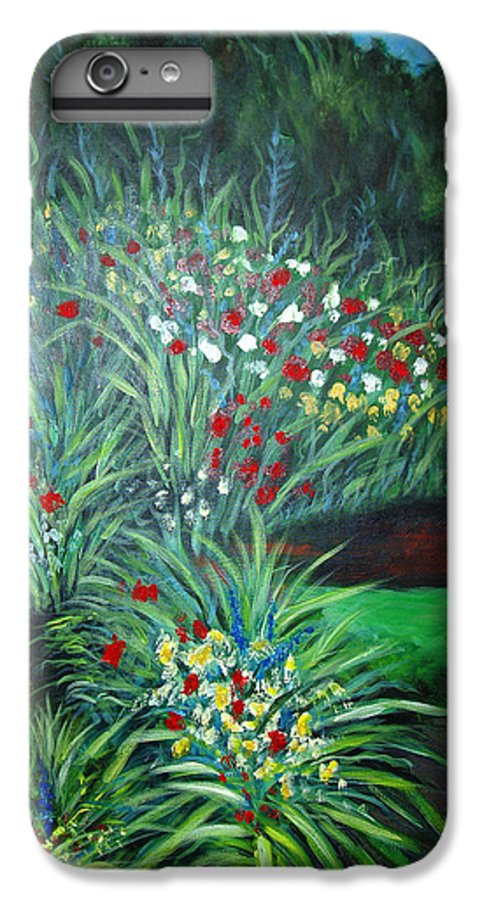 Landscape IPhone 6 Plus Case featuring the painting Maryann's Garden 3 by Nancy Mueller