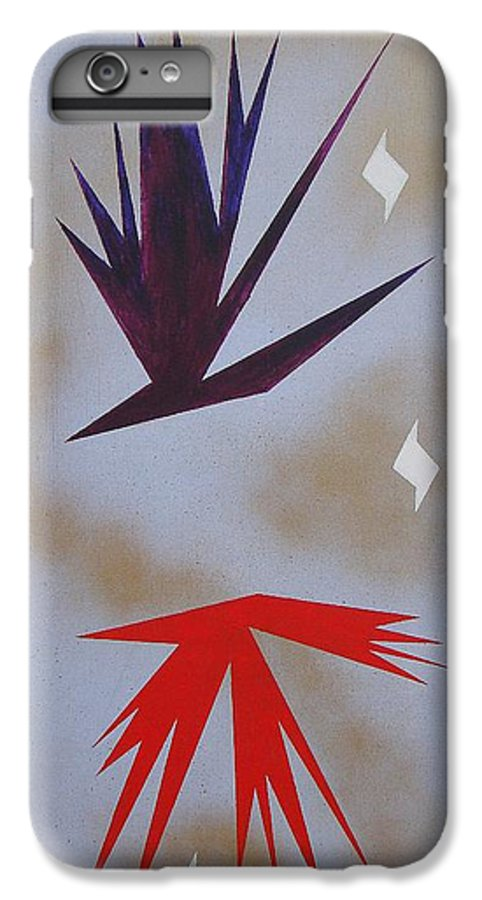 Birds IPhone 6 Plus Case featuring the painting Mating Ritual by J R Seymour