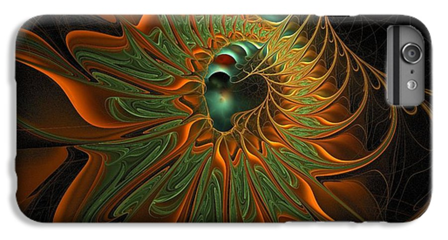 Digital Art IPhone 6 Plus Case featuring the digital art Meandering by Amanda Moore