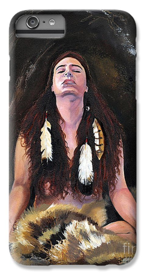 Southwest Art IPhone 6 Plus Case featuring the painting Medicine Woman by J W Baker
