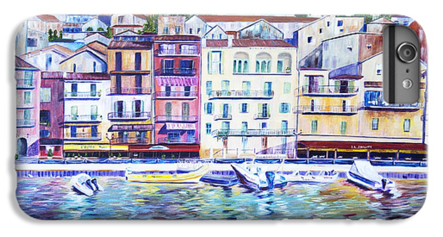 France IPhone 6 Plus Case featuring the painting Mediterranean Morning by JoAnn DePolo
