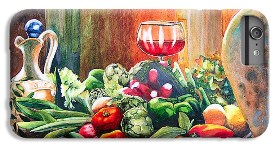 Still Life IPhone 6 Plus Case featuring the painting Mediterranean Table by Karen Stark
