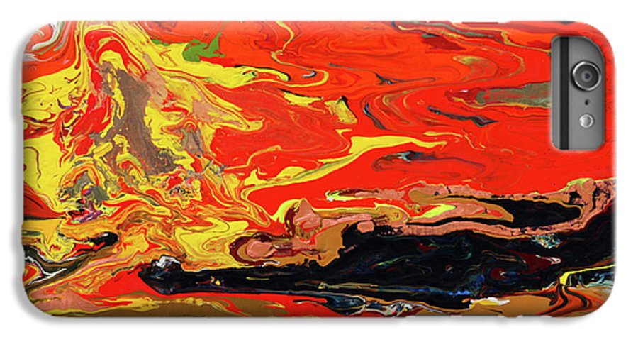Fusionart IPhone 6 Plus Case featuring the painting Melt by Ralph White