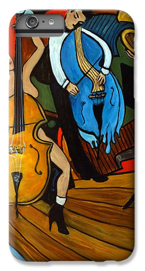Musician Abstract IPhone 6 Plus Case featuring the painting Melting Jazz by Valerie Vescovi