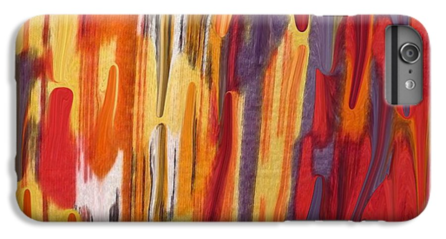 Abstract IPhone 6 Plus Case featuring the painting Melting Pot by Florene Welebny