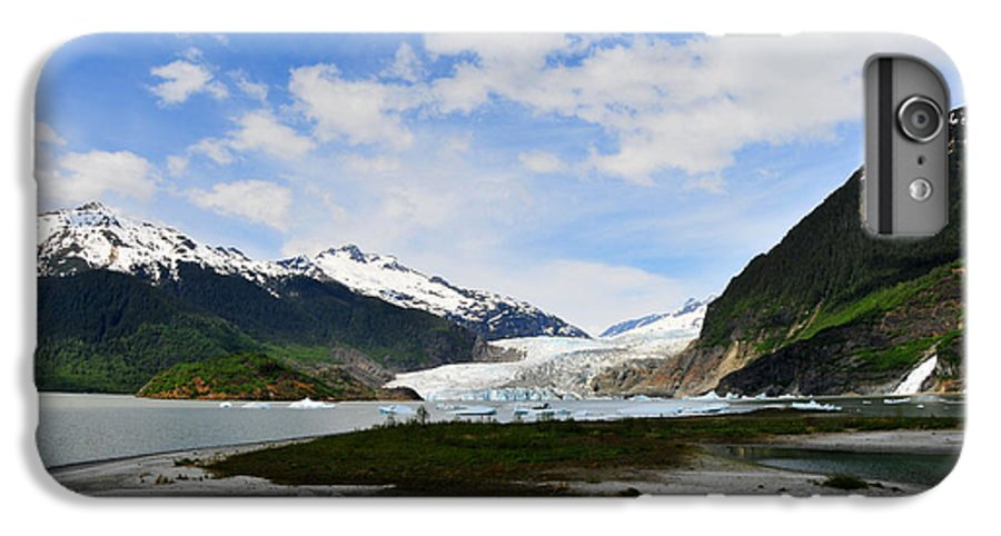 Mendenhall IPhone 6 Plus Case featuring the photograph Mendenhall Glacier by Keith Gondron
