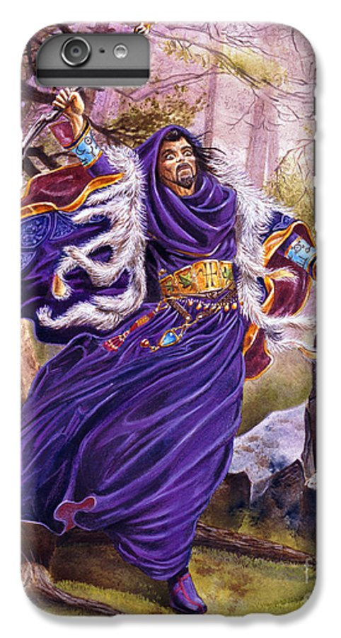 Artwork IPhone 6 Plus Case featuring the painting Merlin by Melissa A Benson