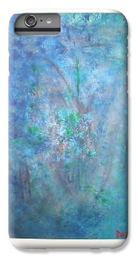 Metal IPhone 6 Plus Case featuring the painting Metal And Water Abstract. by Lizzy Forrester