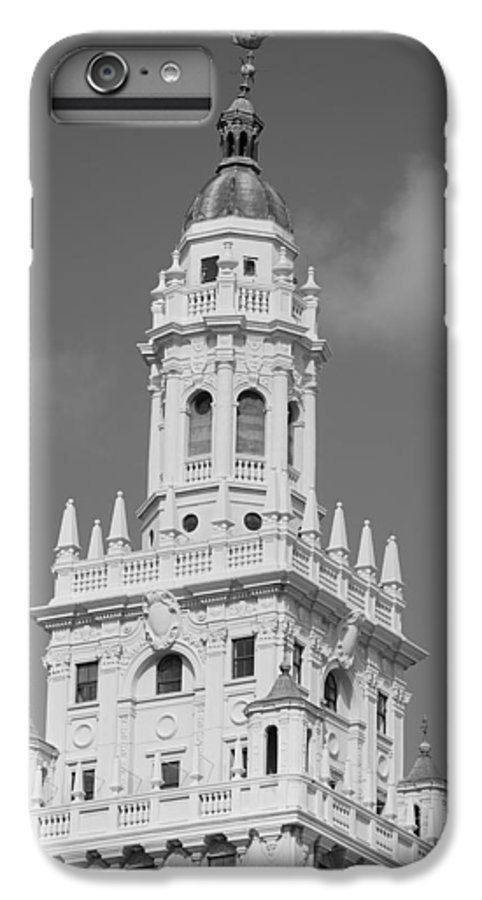 Architecture IPhone 6 Plus Case featuring the photograph Miami Tower by Rob Hans